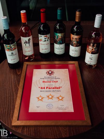 """Priznanje """"Master šef zvjezdice"""" uz vina iz vinarije Zvonko Bogdan / Ugostiteljski objekat Restoran Parallel 44 - Hotel Metropol Palace"""