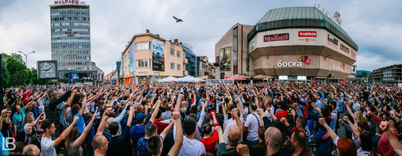 Pravda za Davida - Banja Luka - Protesti - Davor Dragičević - Foto Leon Bijelic / Trg Krajine Banja Luka, 5. maj 2018. godine