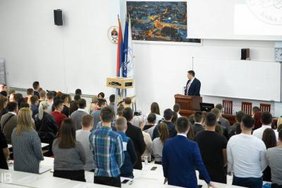 Milos Stevanovic - Advokat - Bijeljina - Predavanje za budućnost - Banja Luka - Amfiteatar Pravni Fakultet