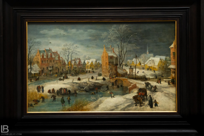 KUNSTHALLE MUSEUM - HAMBURG - PHOTOS BY LEON BIJELIC - Germany - Kunst - Art - Painting - Joos de Momper d. J. - A village in Winter - Oil on oak panel