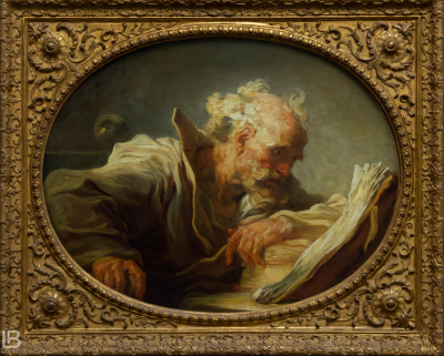 KUNSTHALLE MUSEUM - HAMBURG - PHOTOS BY LEON BIJELIC - Germany - Kunst - Art - Painting - Jean-Honoré Fragonard - The Philosopher - 1764 - Oil on canvas