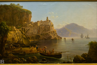 KUNSTHALLE MUSEUM - HAMBURG - PHOTOS BY LEON BIJELIC - Germany - Kunst - Art - Painting - Joseph Rebell - View of Atrani near Amalfi - 1817 - Oil on canvas