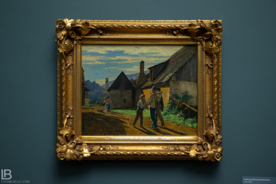 KUNSTHALLE MUSEUM - HAMBURG - PHOTOS BY LEON BIJELIC - Germany - Kunst - Art - Painting - Ferdinand Georg Waldmüller - The Soldier`s Return - 1859 - Oil on oak panel