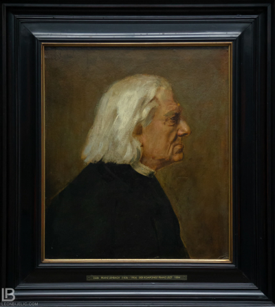 KUNSTHALLE MUSEUM - HAMBURG - PHOTOS BY LEON BIJELIC - Germany - Kunst - Art - Painting - Franz von Lenbach - The Composer Franz Liszt - 1884 - Oil on cardboard