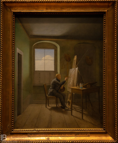 KUNSTHALLE MUSEUM - HAMBURG - PHOTOS BY LEON BIJELIC - Germany - Kunst - Art - Painting - Georg Friedrich Kersting - Caspar David Friedrich in his Studio - 1811 - Oil on canvas