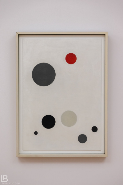 KUNSTHALLE MUSEUM - HAMBURG - PHOTOS BY LEON BIJELIC - Germany - Kunst - Art - Painting - Carl Buchheister - Variations of Red Circle - 1926 - Oil on cardboard