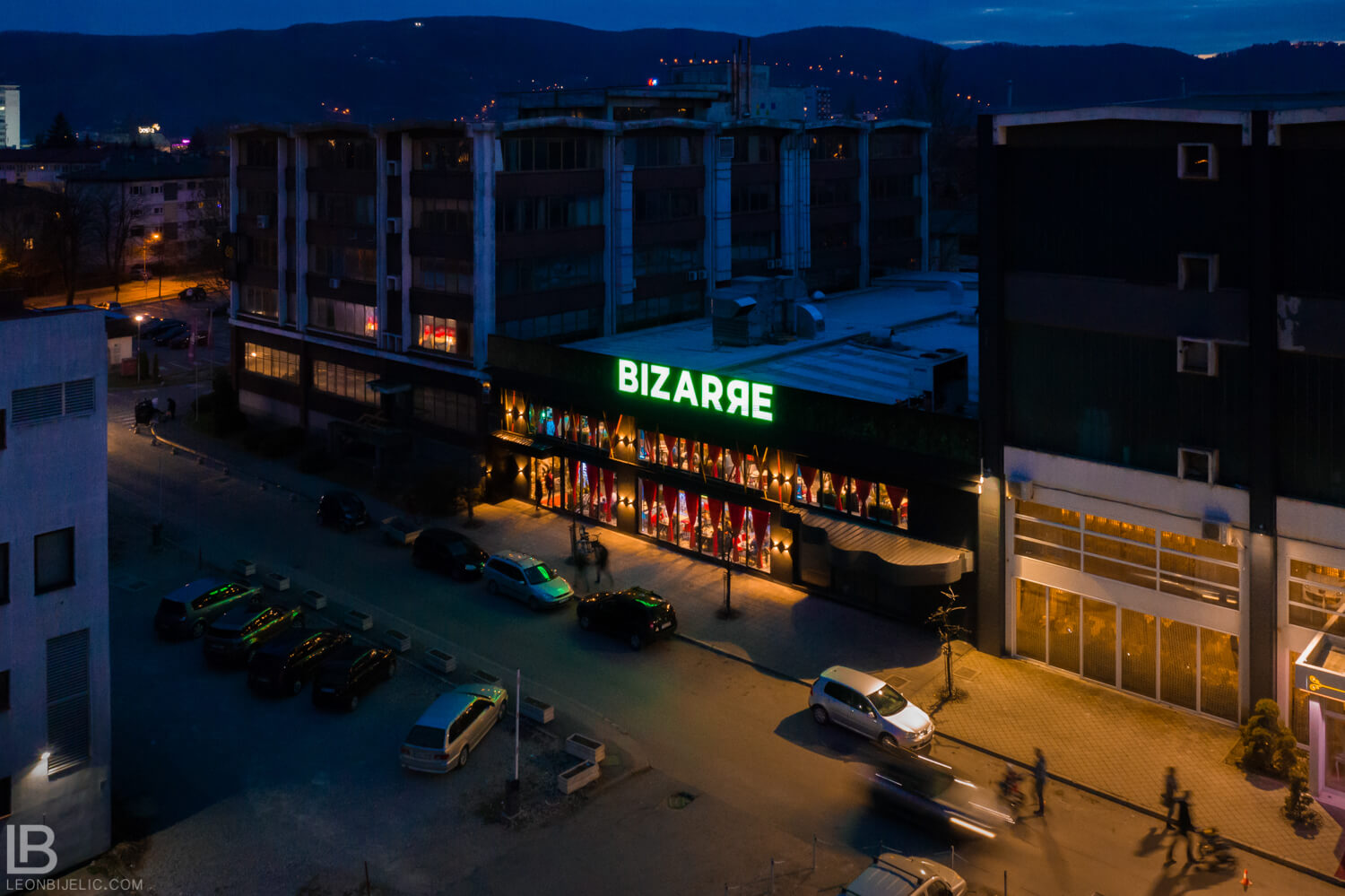RESTAURANT BIZARRE DIVERSE BAR - OPENING DAY - BANJA LUKA - LEON BIJELIC COMMERCIAL AERIAL PHOTOGRAPHY