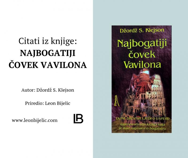 Najbogatiji čovek Vavilona - Džordž S. Klejson - Dzordz - covek - Citati iz knjige