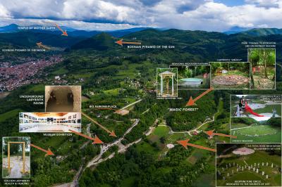 BOSANSKE PIRAMIDE I ARHEOLOŠKI PARK TUNEL RAVNE 2 - VISOKO - FOTOGRAF LEON BIJELIC - FOTOGRAFIJE - BOSNA I HERCEGOVINA - Drone photos - aerial photographs - BOSNIAN VALLEY OF PYRAMIDS DR SEMIR SAM OSMANAGICH