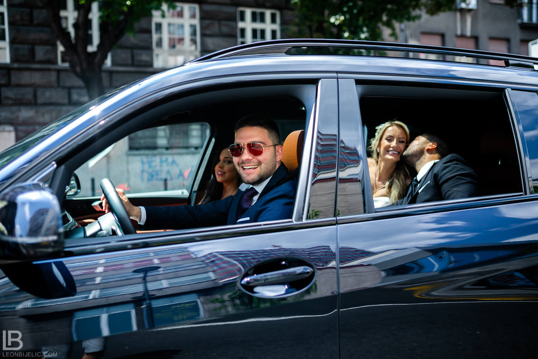 WEDDING BELGRADE - TIJANA I MARKO - LEON BIJELIC PHOTOGRAPHY PHOTOGRAPHER - SERBIA - SRBIJA - BEOGRAD - BMW JEEP CAR CARS