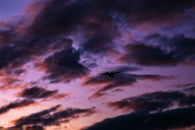 ICELAND - CAPITAL CITY REYKJAVIK - PHOTOS - SUNSET VIEW BEAUTIFUL PLANE PURPLE COLOR