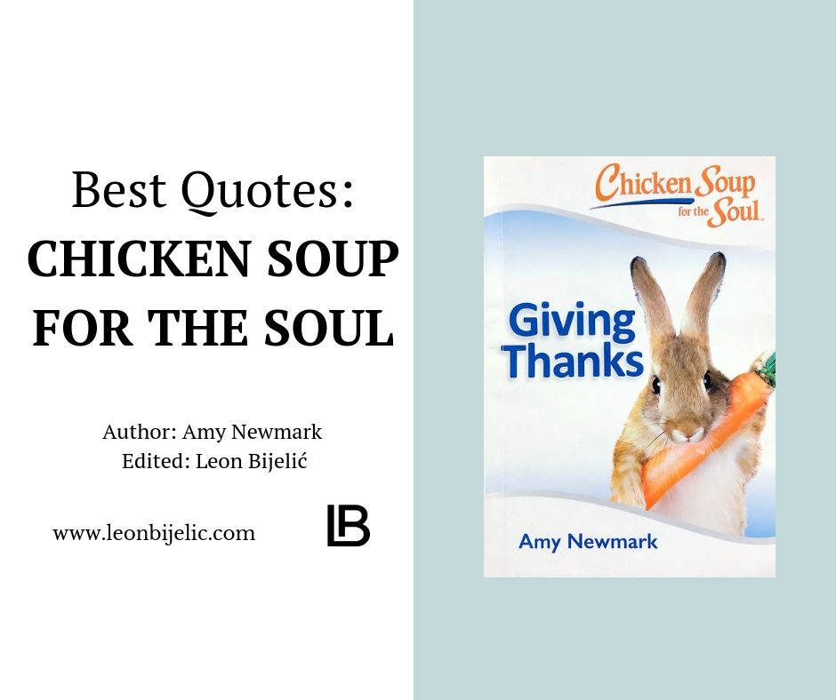CHICKEN SOUL SOUP - THANKS GIVING - BEST QUOTES - AMY NEWMARK