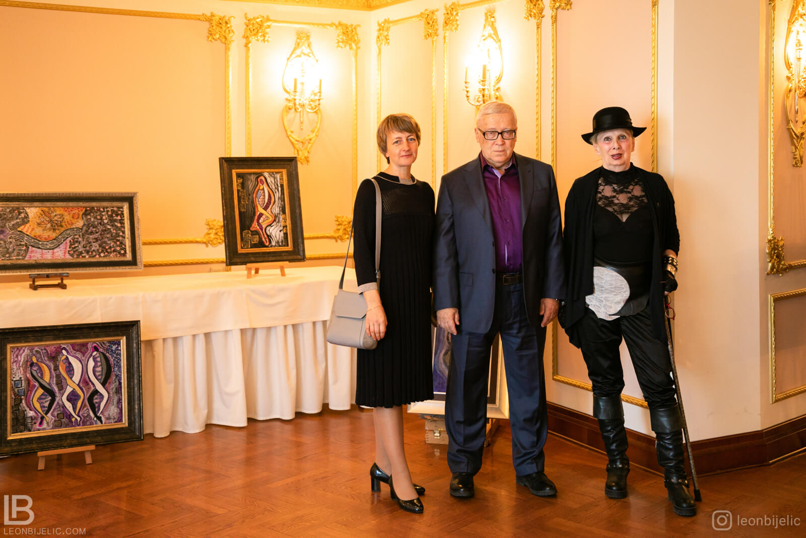 Akademik Dr Petar Pjotr Garjajev i slikarka Gordana Nikezić - Seminar - Beograd - Hotel Moskva